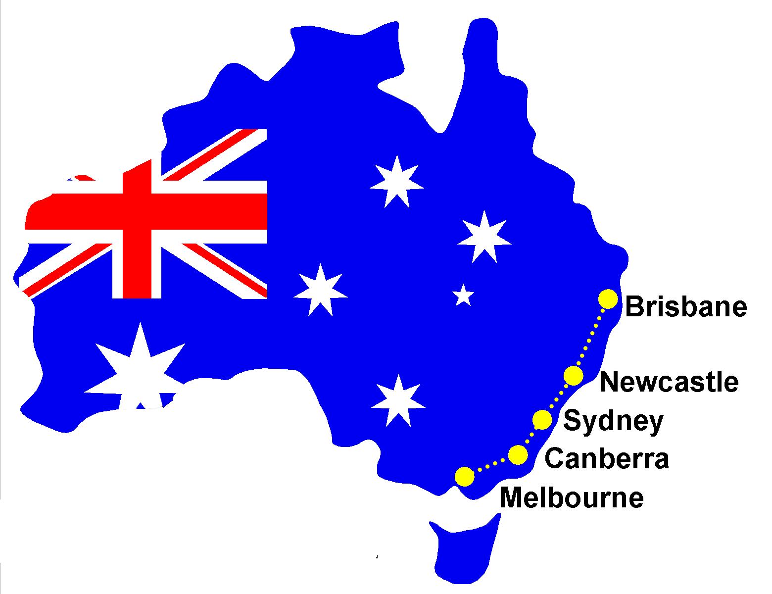 Sydney Australia Map Png.2019 Australian Walk Crossroads Walk Australia